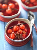 Spicy cherry soup