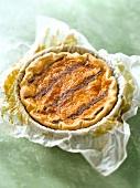 Lemon-chocolate striped tart