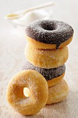 Chocolate and sugar donuts