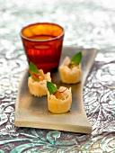 Almond and saffron bites