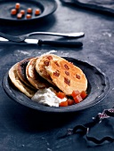 Quince paste blinis