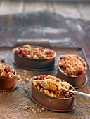 Summer fruit and coffee individual crumbles