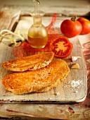 Tomato and garlic bread