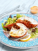 Cold spiny lobster with dressing