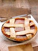 Pasta frola, quince tart