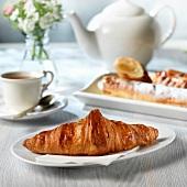Croissant zum Frühstück