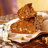 Walnut gingerbread