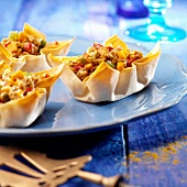 Ground meat and vegetable tartlets