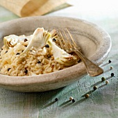 Risotto with artichokes,parmesan and pepper
