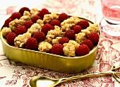Crumble-style raspberry clafoutis