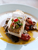 Cod a la plancha with peppers