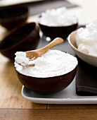 Coconut mousse in a dark chocolate casing