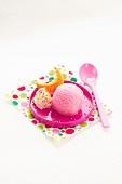 Pinkfarbenes Zuckerwatteeis