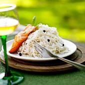 Sauerkraut with smoked haddock