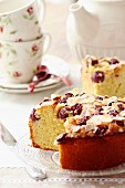 Fluffy cake with Griottes cake, almonds and ricotta