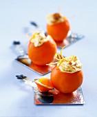 Stuffed oranges with soufflé