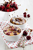 Cherry batter puddings
