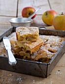 Hefekuchen mit Äpfeln