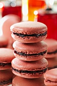 Griottine de Fougerolles cherry macaroons