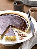 Chocolate and Espelette pepper tart