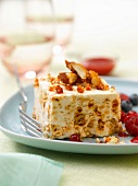 Iced nougat with summer fruit