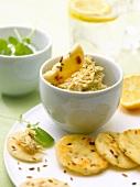 Mackerel paté with cumin crackers