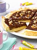 Carambar and walnut tart
