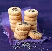 Lavander flower shortbread cookies