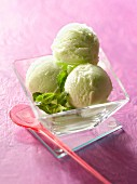Lemon and green tea sorbet