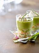 Shrimp,green asparagus and Espelette pepper cappuccino