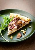 Slice of mushroom tart