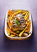 Pork roast with carrot french fries