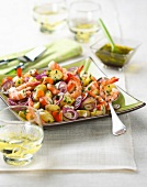 Potato, shrimp and surimi salad