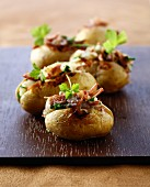 Potatoes stuffed with duck confit