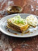 Auberginenlasagne mit Tofu