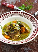 Lamb with lemon and anchovies