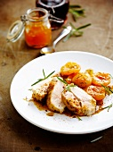 Chicken with dried apricots and rosemary