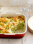 Chicken and leek lasagnes