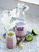 Blackberry-fig milkshake