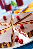Buttermilk, raspberry and chocolate cake