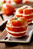 Tomatoes with sea spider stuffing