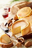 Petit Breton cheese with walnuts