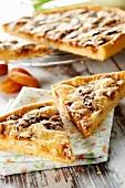 Fennel,dried apricot,ground almond and Petit Breton tart