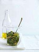 Herb and garlic vinaigrette