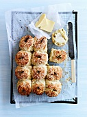 Porridge,cheese and rosemary scones