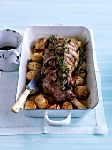 Lamb roast with rosemary and Grenailles potatoes