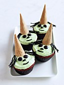 Frightening mint-chocolate muffins