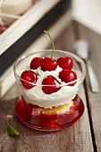 Trifle-style cherry dessert
