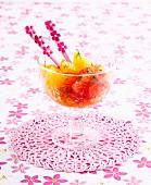 Mint-flavored citrus fruit salad