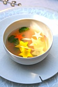 Dublin Bay prawn broth with citronella